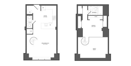 Floor plan at The Republic, Pennsylvania