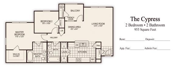 Floor Plan The Cypress