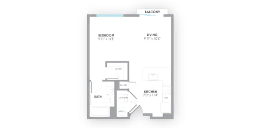 Surge Floor Plan at AMP Apartments, Louisville, Kentucky