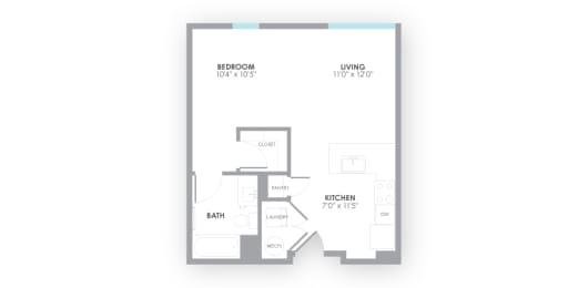 Surge2 Floor Plan at AMP Apartments, Louisville