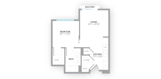 Turbine Floor Plan at AMP Apartments, Louisville, 40206