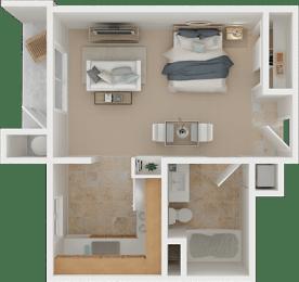 The Allegro Studio Floor Plan   Torcello