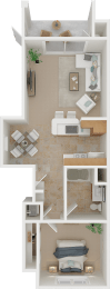 The Bravo 1X1 Floor Plan   Torcello