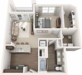 Expansive 1 bedroom apartment Floor plan