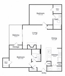 Floor plan at Lakeside Mill, Owings Mill, Maryland