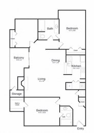 Floor plan at Lakeside Mill, Owings Mill