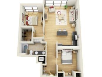 Floor Plan TWO BEDROOM A