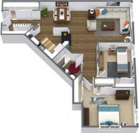 Floor Plan TWO BEDROOM RENOVATED