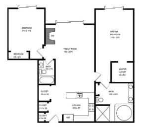 Floor Plan 2 X 2