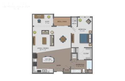 Floor plan at The Edison at Avonlea, Minnesota
