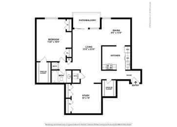 Floor Plan 1BR-1BA - AD1