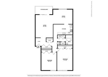 Floor Plan 2BR-1BA - B2