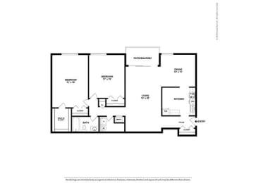 Floor Plan 2BR-1BA - B3