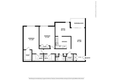Floor Plan 2BR-2BA - B6