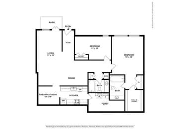 Floor Plan 2BR-2BA - BD5
