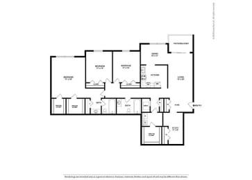 Floor Plan 3BR-2BA - C2