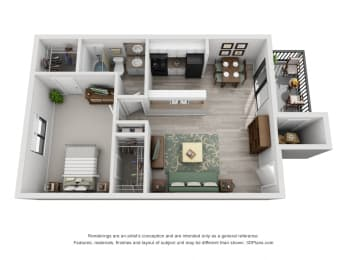 30 West 1 Bedroom Layout