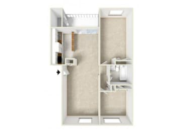 Floor Plan TWO BEDROOM-ONE BATH