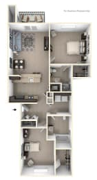 Two Bedroom at Strathmore Apartment Homes in West Des Moines, IA