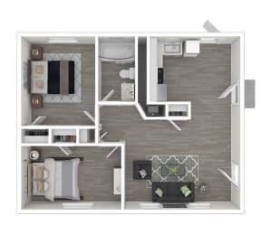 Floor Plan 2BR 1BA Premier