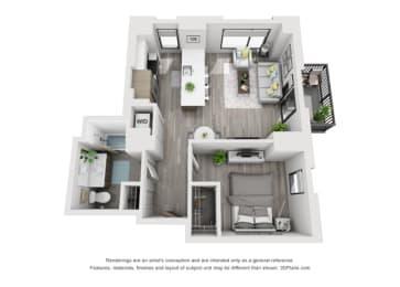 Floor Plan 1E