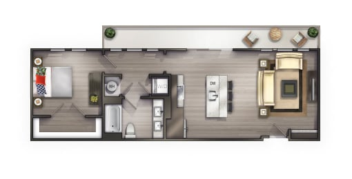 A5 Floor Plan at Peyton Stakes, Nashville