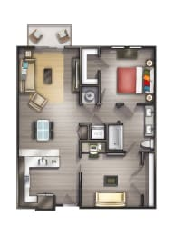 A6 Floor Plan at Peyton Stakes, Tennessee, 37208