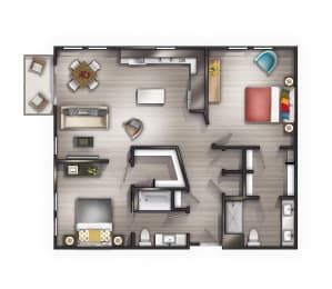 B3 Floor Plan at Peyton Stakes, Nashville