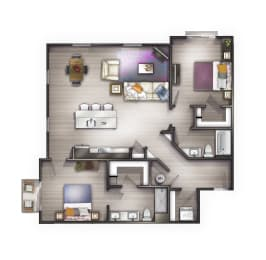 B5 Floor Plan at Peyton Stakes, Germantown, Tennessee, 37208