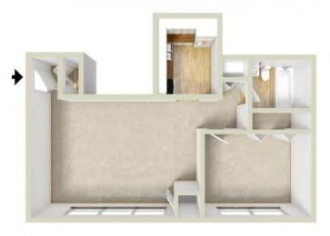 Floor Plan Garden-One Bedroom,One Bath