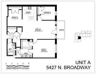 Floor Plan Three Bedroom A