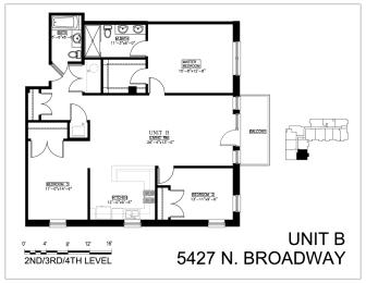 Floor Plan Three Bedroom B