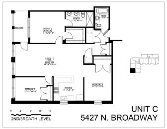 Floor Plan Three Bedroom C