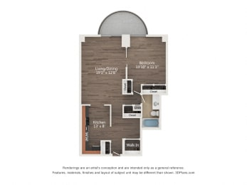 Floor Plan 1 Bedroom 09
