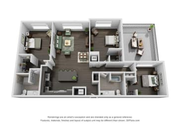 Floor Plan 3B