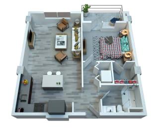 The Stewart One Bedroom Floor Plan - Costello