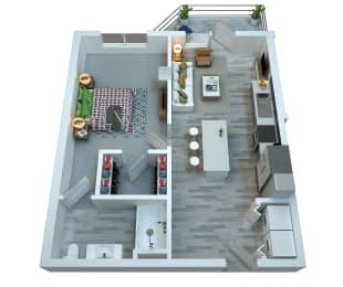 The Stewart One Bedroom Floor Plan - Frampton