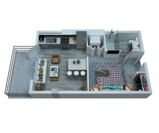 The Stewart Studio Floor Plan - Ramone
