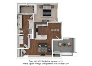 Floor Plan  A2 Floor Plan at Retreat at the Flatirons