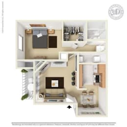 Floor Plan at Aviare Place, Midland