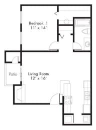Floor Plan at Hawthorne House, Midland, TX