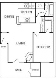 Floor Plan BARCELONA - 682 SQUARE FEET