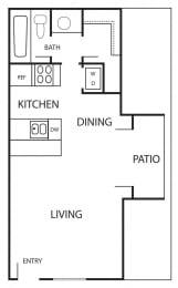 Floor Plan MARBELLA - 400 SF