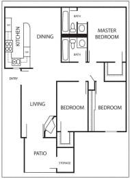 Floor Plan SANTA MARIA - 1081 SQUARE FEET