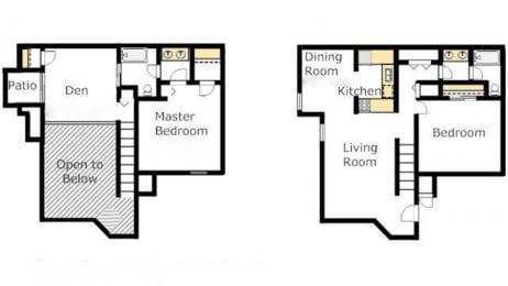 Casas lindas floor plan 2C of la cholla loft