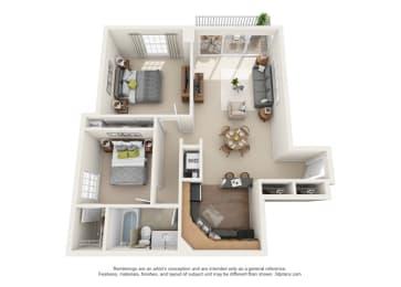 Floor Plan Chaumont  -  West