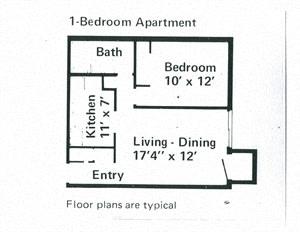 1 Bedroom Apartment at Franklin Manor in Columbus, OH