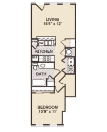 Rush Street Floor Plan at Providence at Old Meridian, Indiana
