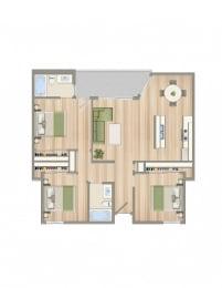 Floor Plan  3bed2bath