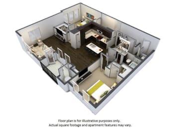 Floor Plan at Windsor at Pinehurst, Lakewood, CO